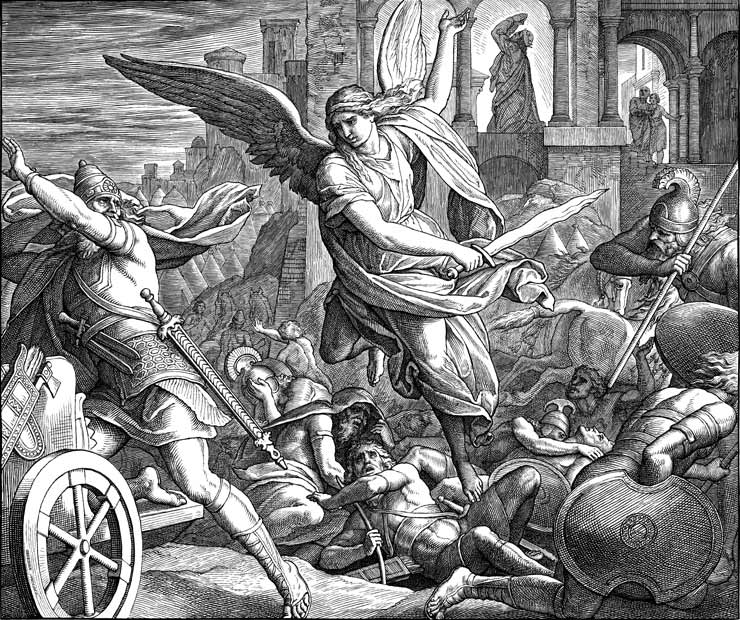 The Angel Of The Lord Slays The Assyrian Army