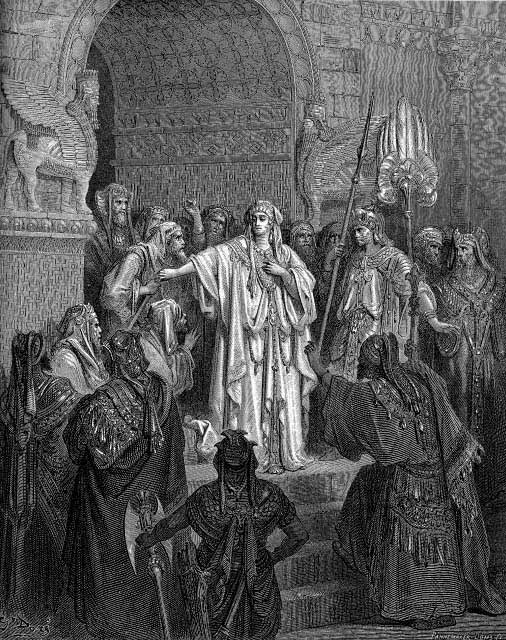Queen Vasthi Refusing Command Of Assuerus