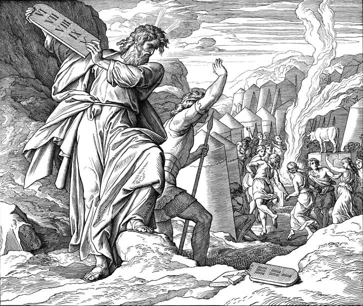 Moses Breaks The Stone Tablets