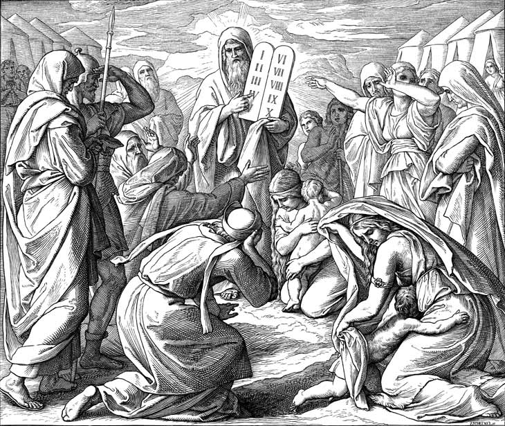 Moses Brings Israel The Ten Commandments