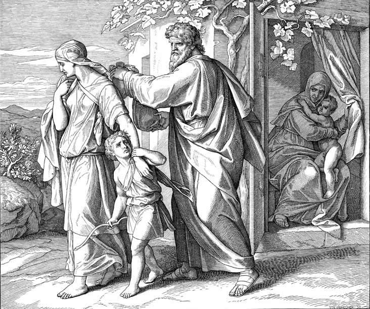 Abraham Sends Ismael Away