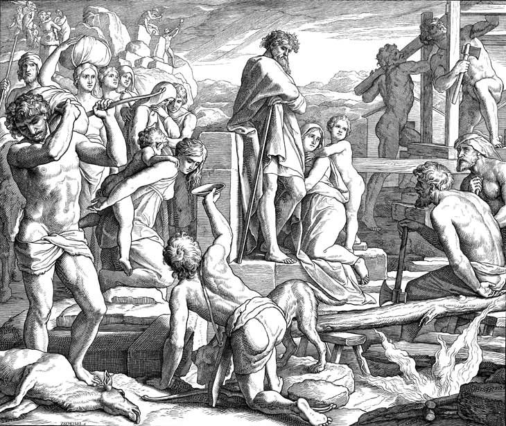 Cain Builds City Of Enoch