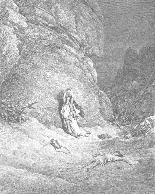 Hagar And Ismael In The Wilderness