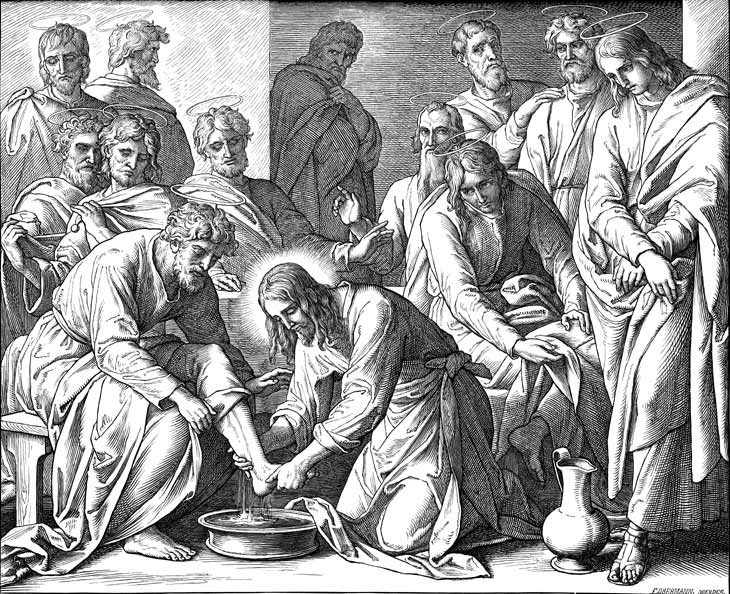 Jesus Washing The Feet Of The Disciples