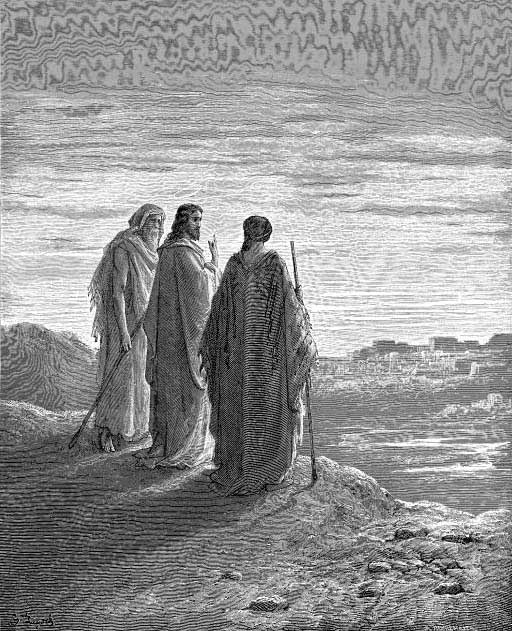 Jesus And The Disciples Going To Emmaus