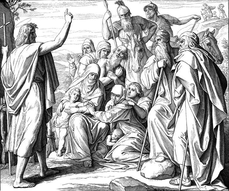 John The Baptist Preaching