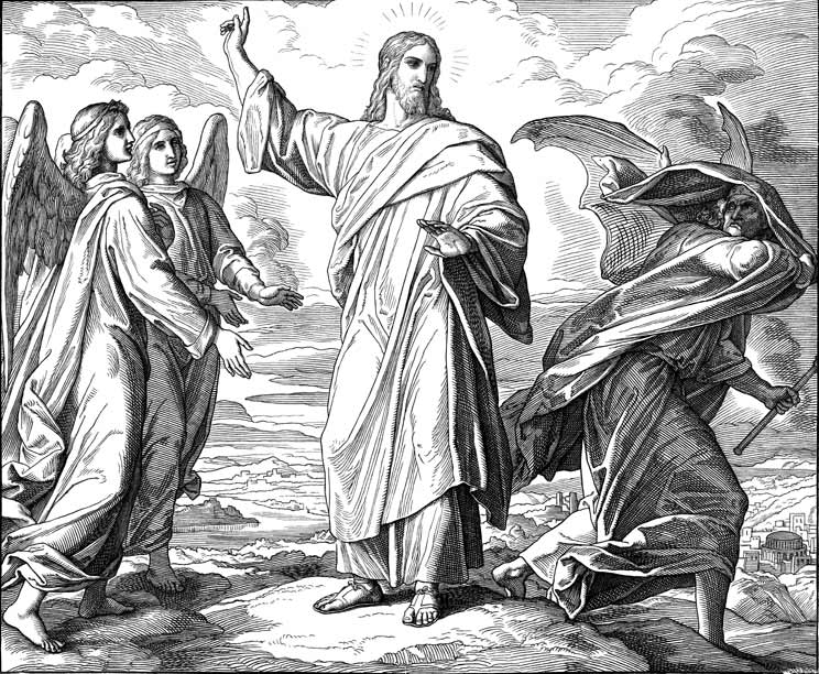 Jesus Commands Satan To Depart