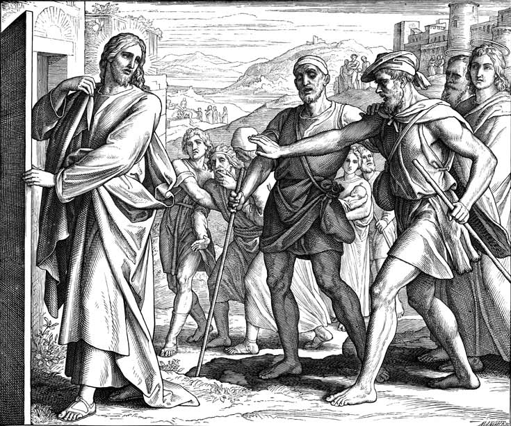The Blind Men Following Jesus